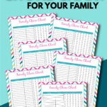 This free printable family chore chart for your entire household is super easy to use and includes stickers and an age appropriate chores sheet! #daily