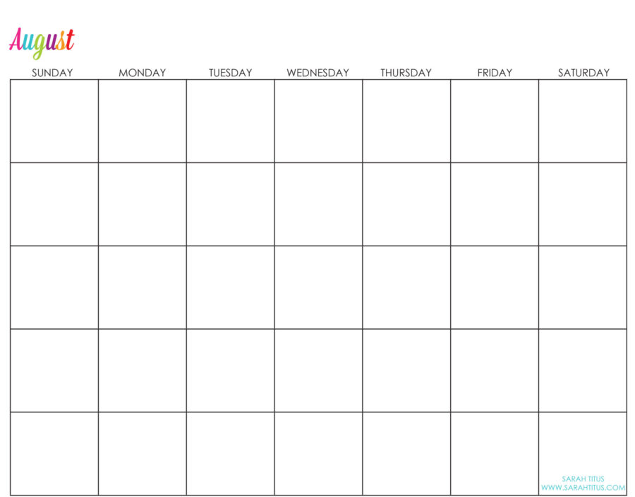 Undated-August-Calendar