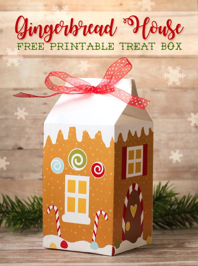 Gingerbread Treat Box Free Printable
