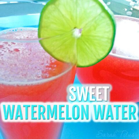 Sweet Watermelon Water