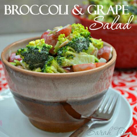 Nutritious Broccoli & Grape Salad