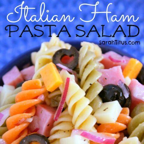 Italian Ham Pasta Salad