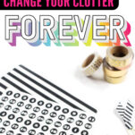 Looking for the best organizing tips to banish clutter from your home? These tips and tricks are 2 of the absolute biggest helps you can learn!