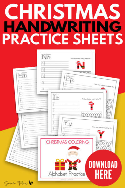 Christmas Handwriting Practice Sheets
