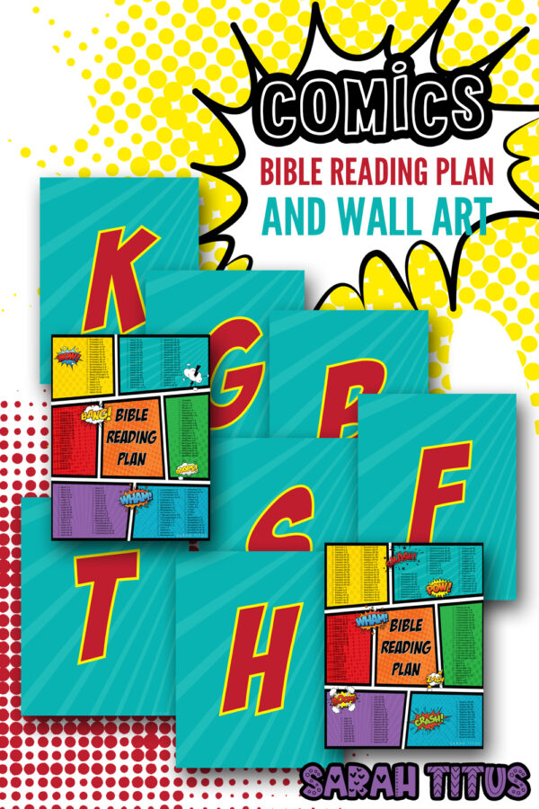 Comics Bible Reading Plan and Wall Art