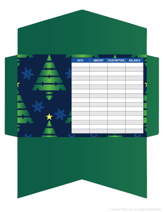 CASH ENVELOPE TEMPLATE - CHRISTMAS TREES