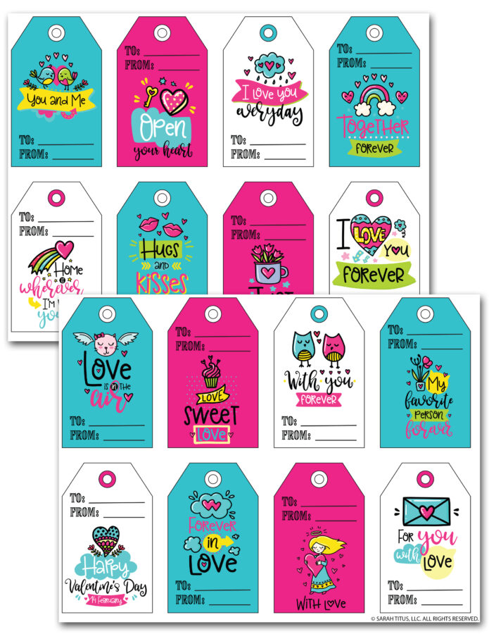 Cute Valentine's Day Gift Tags