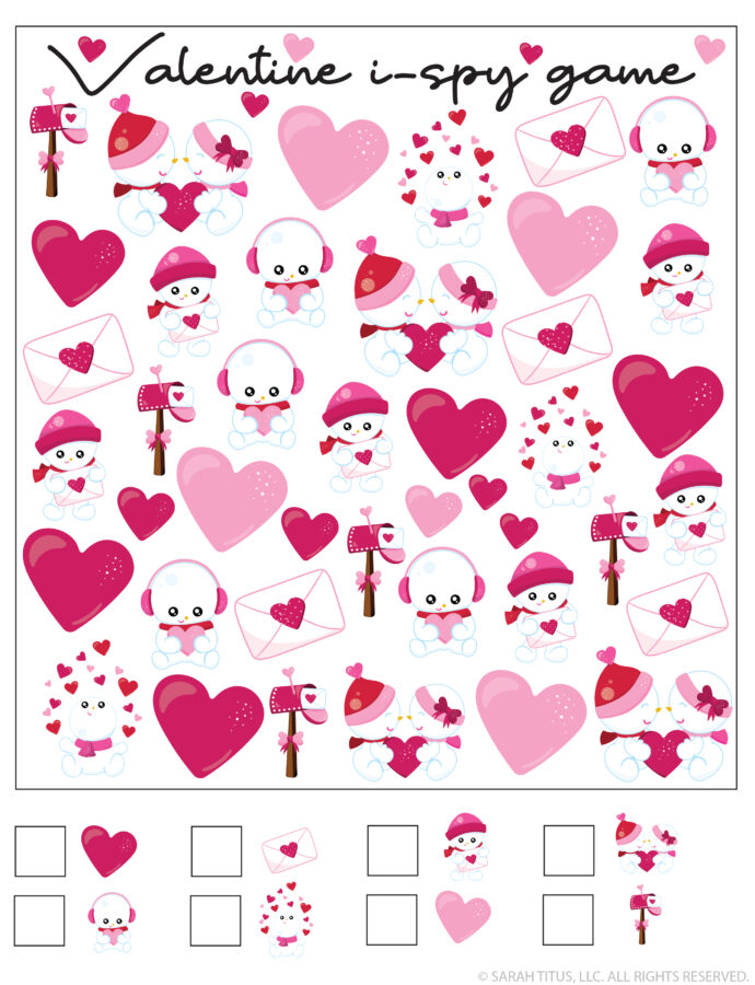 Valentine's Day I-Spy Game for Kids