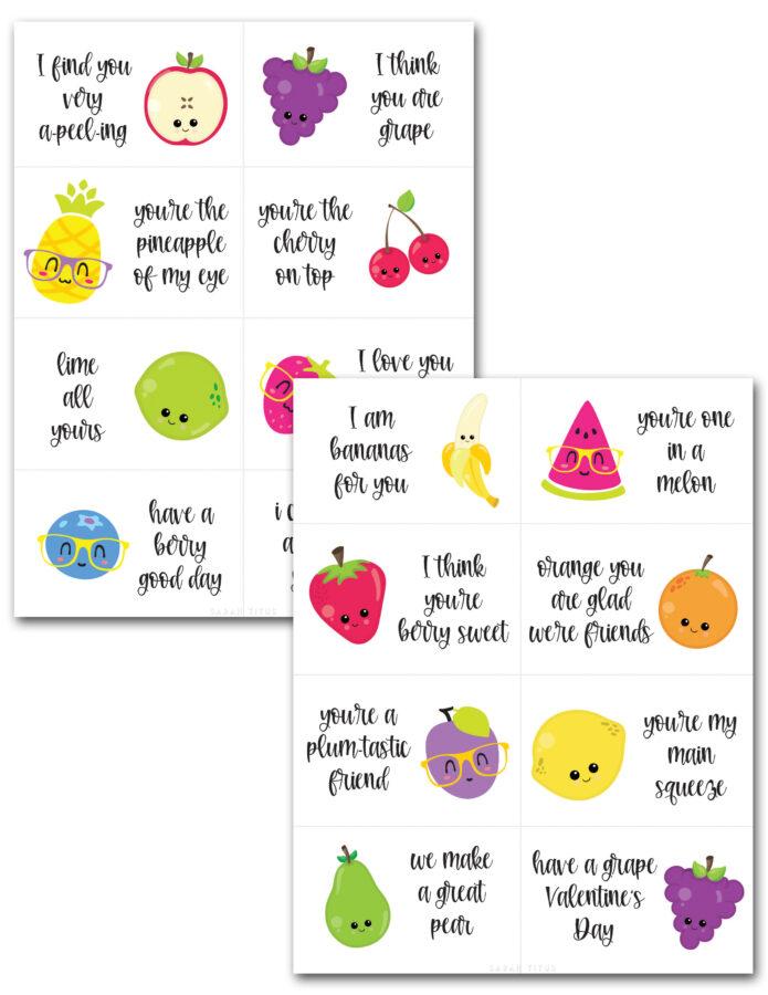 Fruit Pun Valentine Cards