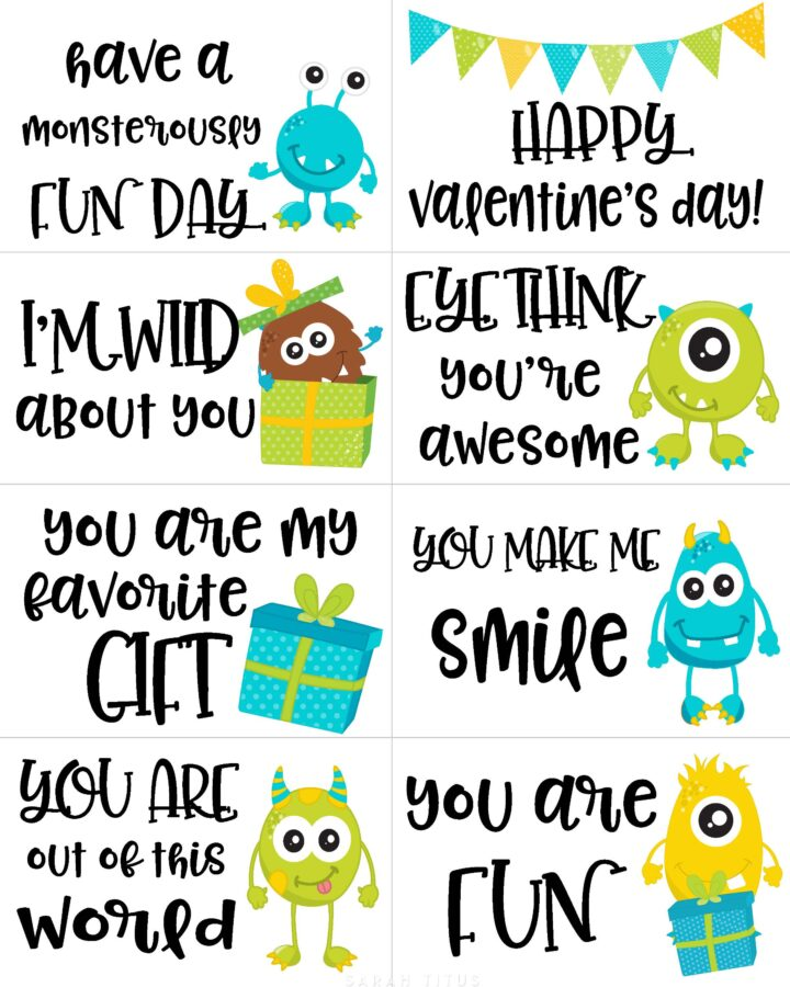 Fun Monster Valentine Cards Printable Free
