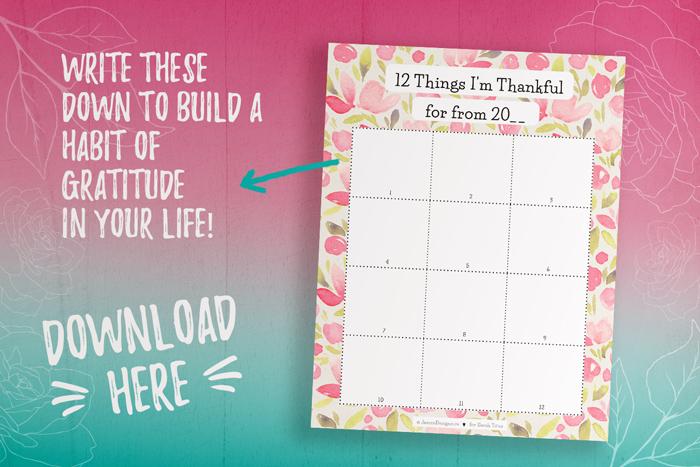 Being Thankful Planner