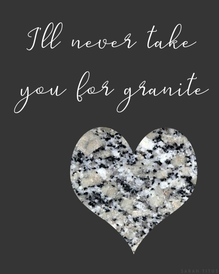 Valentine's Granite Wall Art