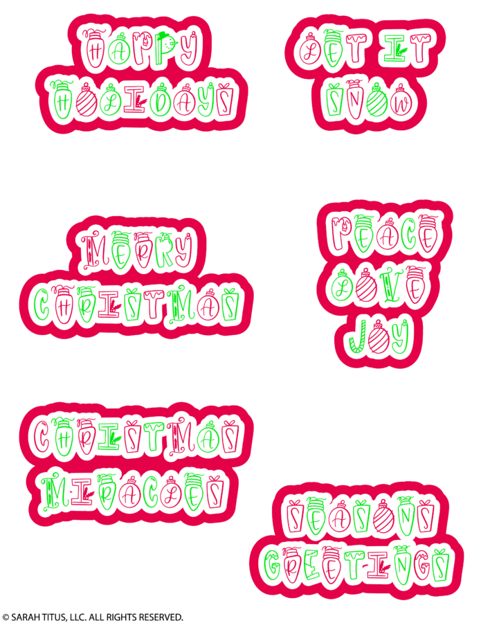 Christmas Holiday Planner Stickers