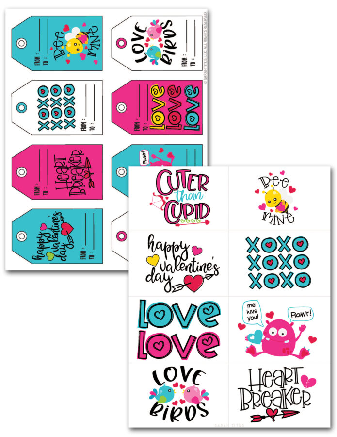 Valentine Cards and Gift Tags