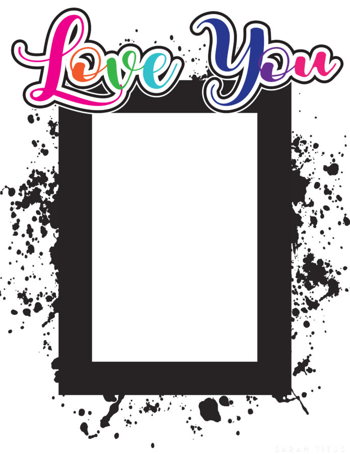 Love You Picture Frame (holds 4x6 pic) Vertical