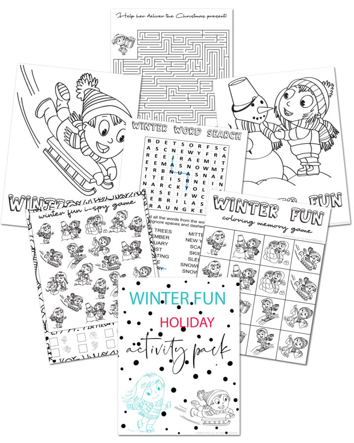 Winter Holiday Activity Pack