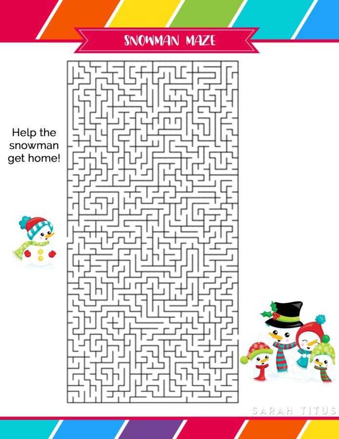 Holiday Snowman Maze