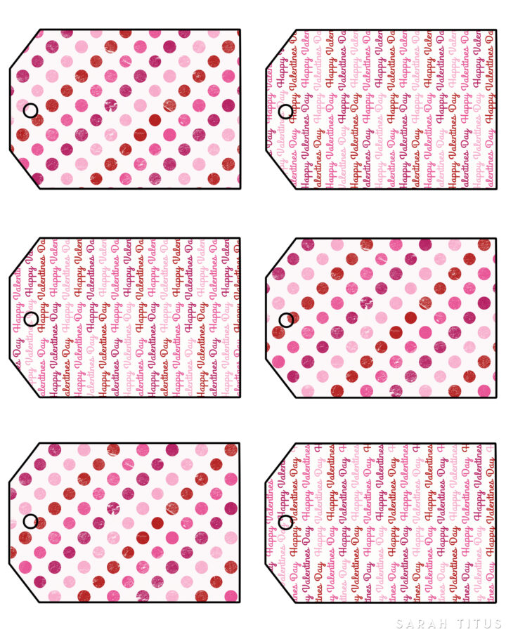 Valentine's Gift Tags Bottom