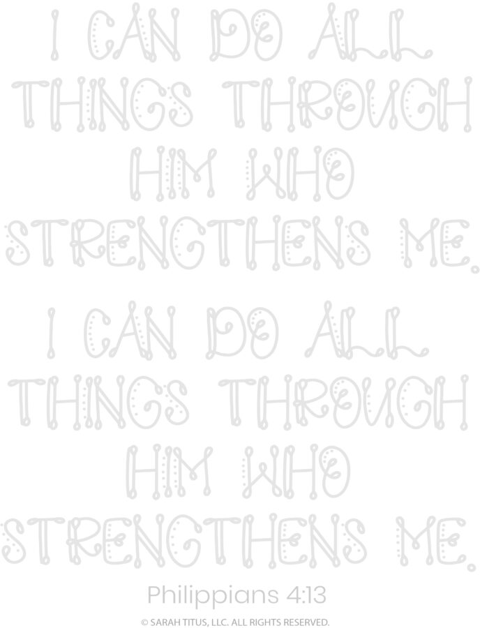 Better Hand Lettering Scripture Worksheets Page 12