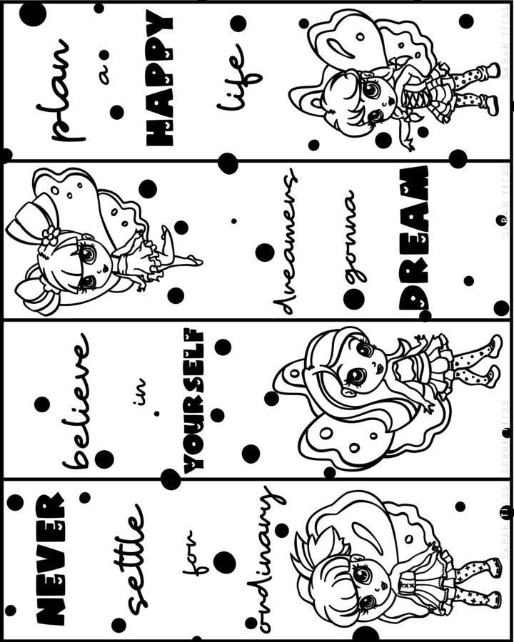Fairies Free Printable Bookmarks to Color