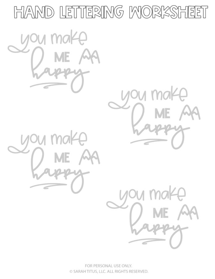 Hand Lettering Worksheets Page 10