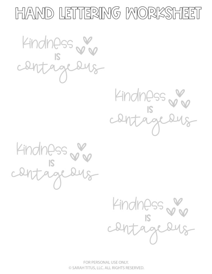 Hand Lettering Worksheets Page 3