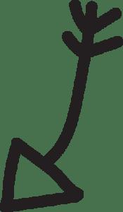 Curved Arrow Doodle