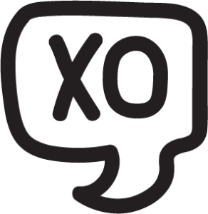 XO Speech Bubble Doodle