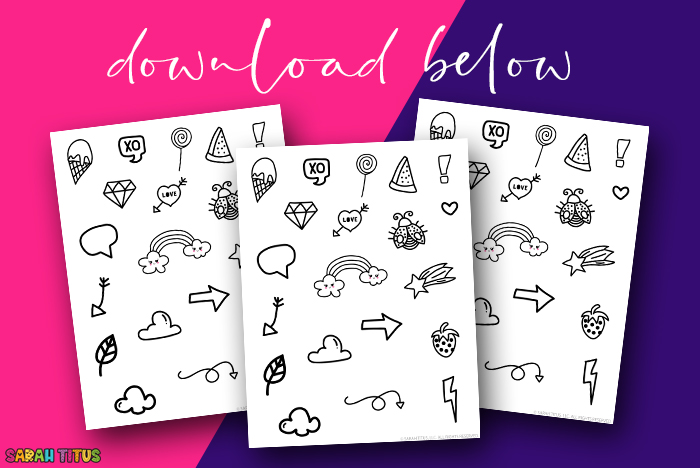 Free Black and White Planner Stickers Download - 01