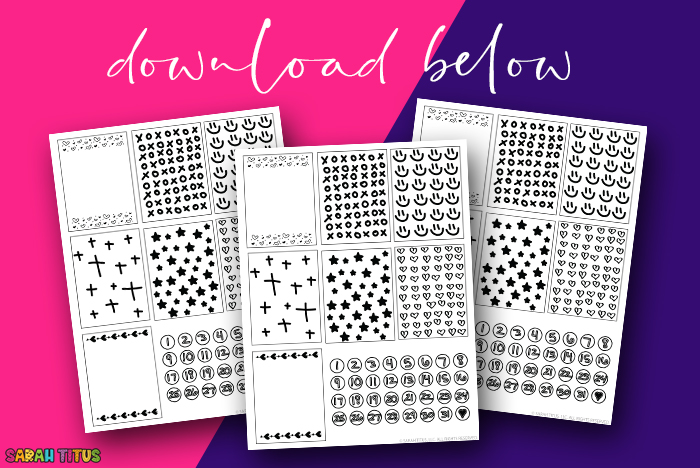 Free Black and White Planner Stickers Download - 03