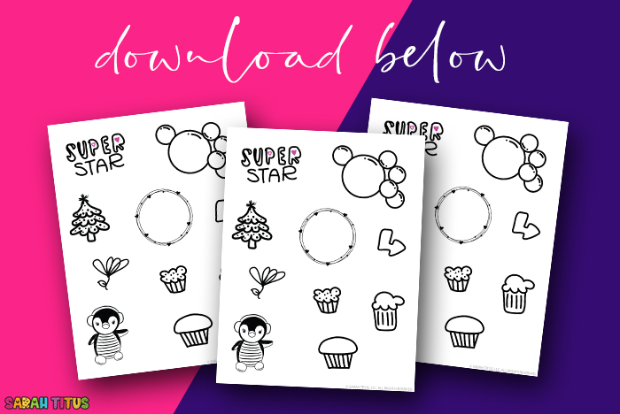 Free Black and White Planner Stickers Download - 09