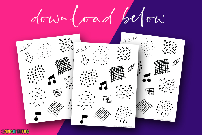 Free Black and White Planner Stickers Download - 10