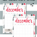 Need a super cute December Christmas calendar this year? One with festive art and fun?! You can grab this free printable template download right now and organize your holiday season!
