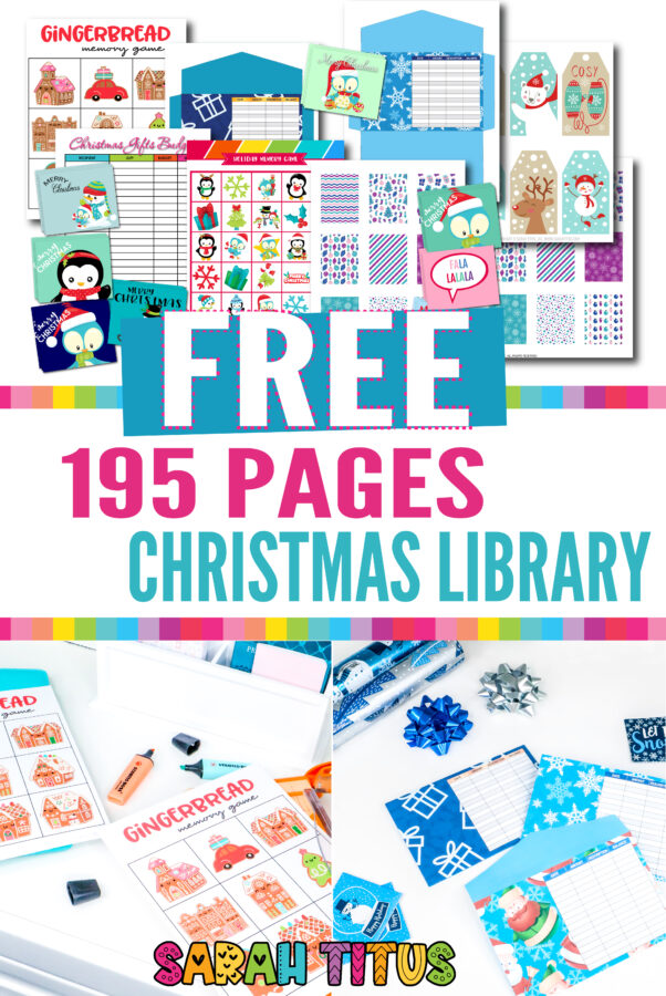 From gift tags to wall art and budgeting printables, cash envelopes, and planners stickers, you're sure to find all you need this Christmas season and best of all, it's absolutely FREE! My gift to you. I hope you and your family have a WONDERFUL Christmas!