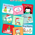 Free templates Christmas cards!!! These were SO much fun to make. You're seriously going to love these AND save some money on cards this year to boot!!! BONUS: Perfect for kids to use too.