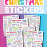 These Christmas printables stickers are so much fun. With all KINDS of words ranging from Believe to Twinkle Lights and Santa to Family, you will absolutely find what you're looking here to add to your Christmas planners! Check it out!