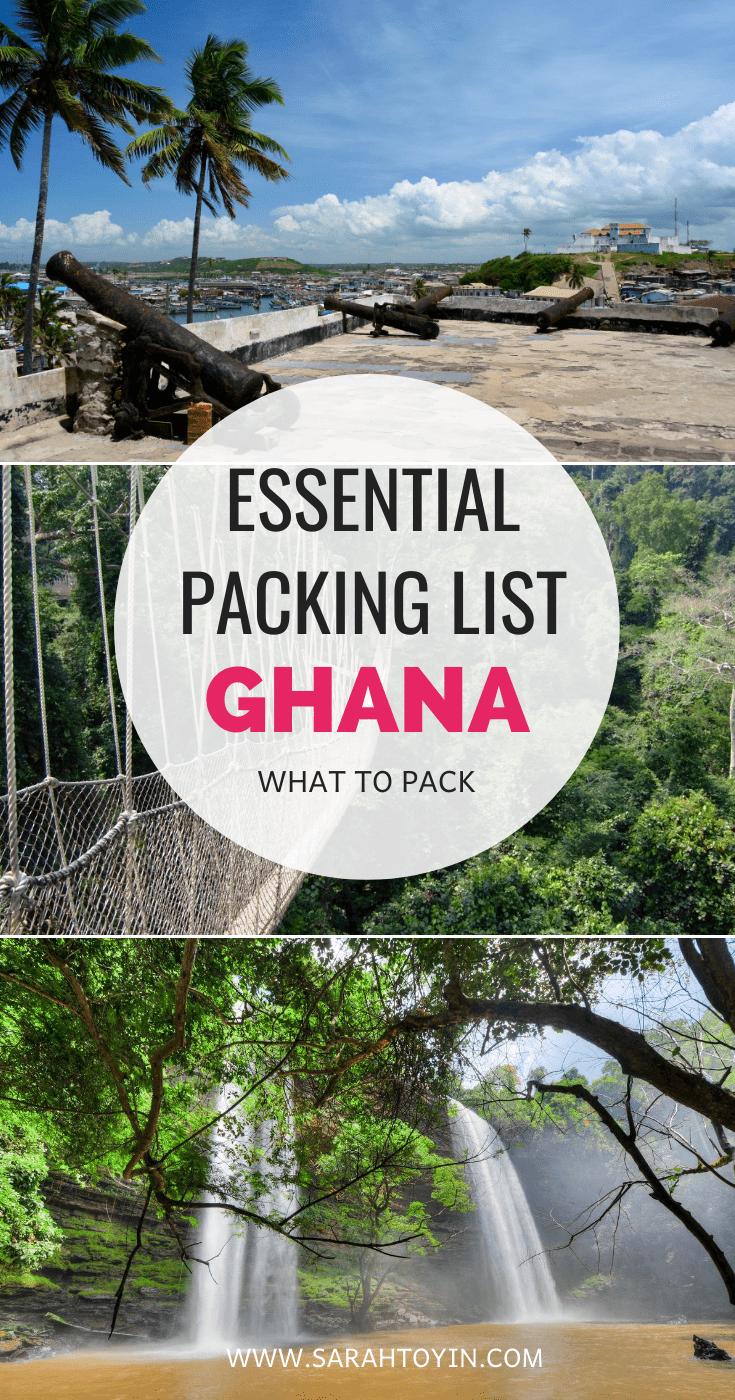 ghana packing list