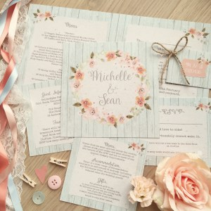 Prairie Peach Rustic Pastel Fl Blush C Garden Whimsical Wedding Stationery And Invitations