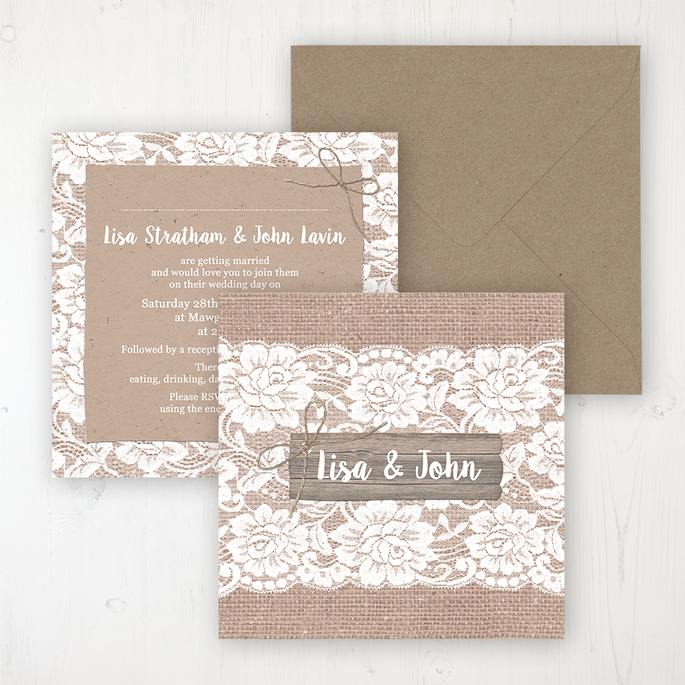 Hessian Wedding Stationery