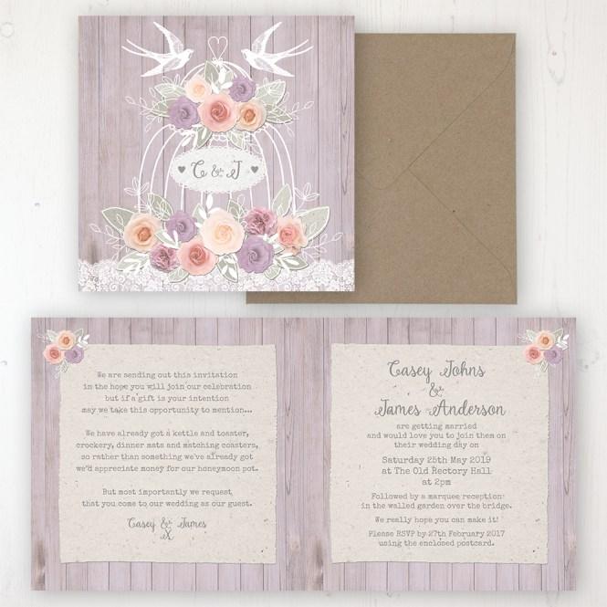 Vintage Birdcage Wedding Invitations Sarah Wants Stationery