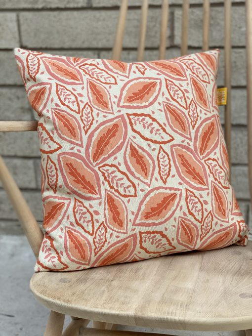"Thea 18"" cushion in tickled pink"