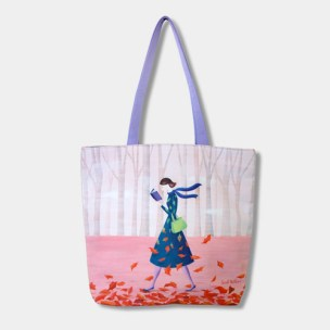 Barnes & Noble - Autumn Stroll Tote Bag