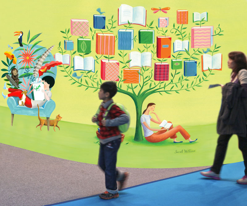 Promotional display for children's pavilion at the Taipei International Book Exhibition