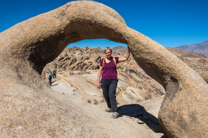 Sara Kurth at Mobius Arch Highway 395