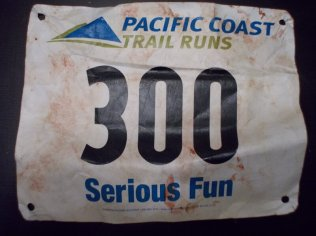 You know you're a trail runner when come home with a blood stained race bib