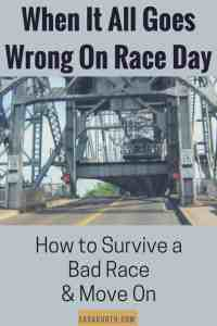 When it all goes wrong on race day
