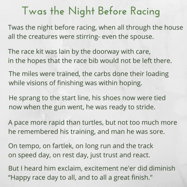 Twas the Night Before Racing