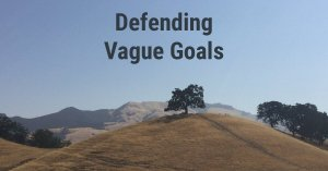 Setting Vague Goals