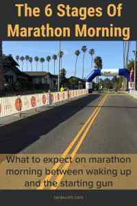Stages Of Marathon Morning