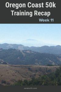 Oregon Coast 50k training recap week 11
